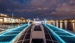 The Energy Observer, the boat fuelled by air, docks in…