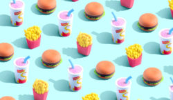 Illustrations and design in the battle between junk food and…