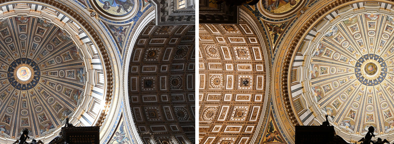 Saint Peter's basilica, mosaics illuminated by 100,000 LEDs
