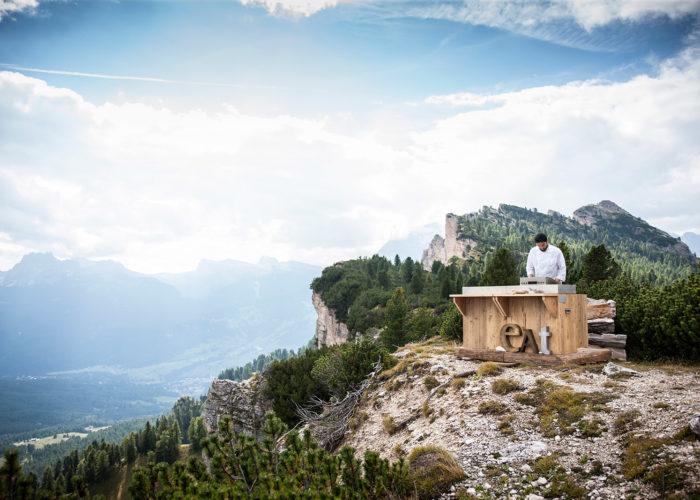 The agri-cuisine of the Dolomites interpreted by chef Riccardo Gaspari