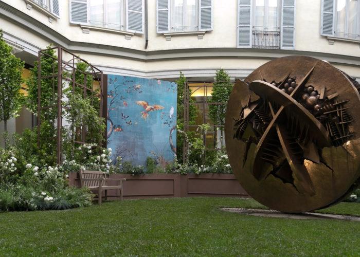"""Il chiostro delle Gallerie d'Italia a Milano diventa """"The Secret Garden"""""""