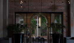 An italian-dutch fusion menu and danish architecture. European cuisine at…