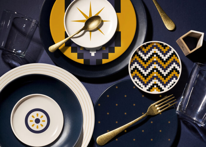 Renaissance, Baroque and modern skylines: the pleasure of eating on designer plates